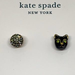Kate Spade Black House Cat Earrings